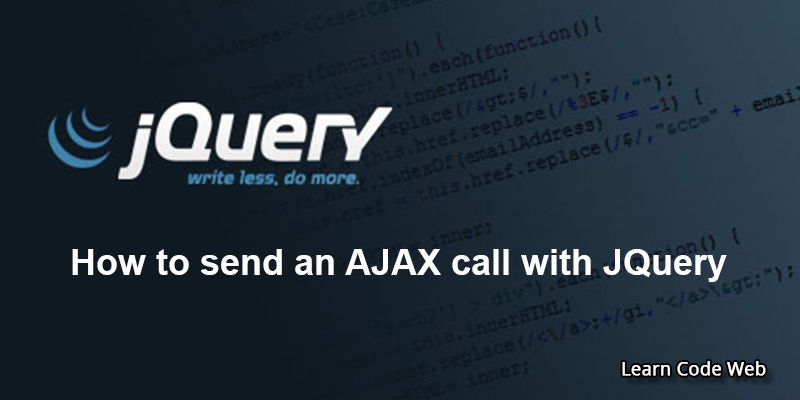send Ajax Request with Jquery