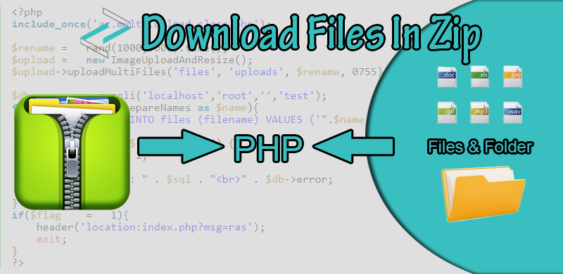 Select & download multi files in ZIP format with PHP - LearnCodeWeb