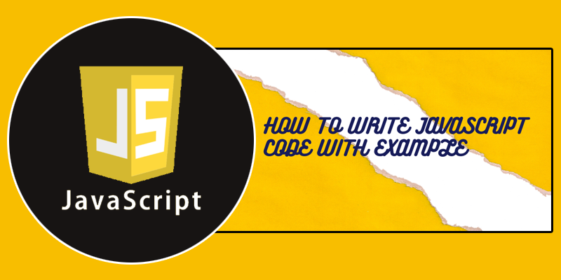 How to write JavaScript code with example