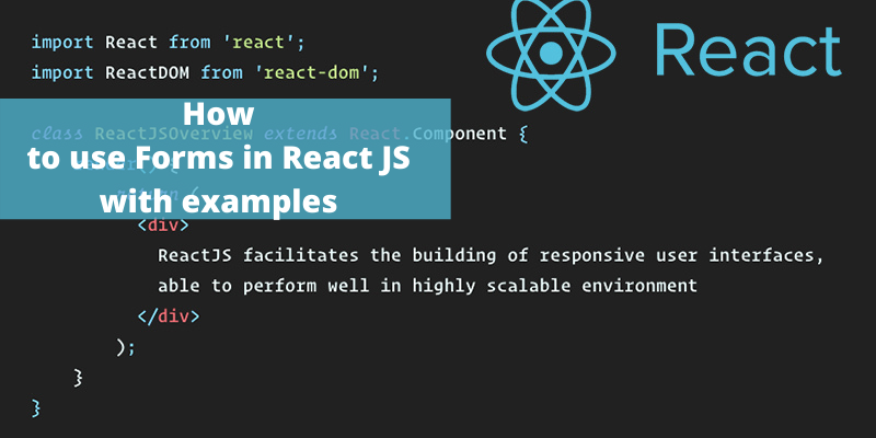 How to use Forms in React JS with examples