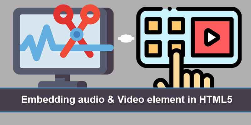 Embedding audio & Video element in HTML5